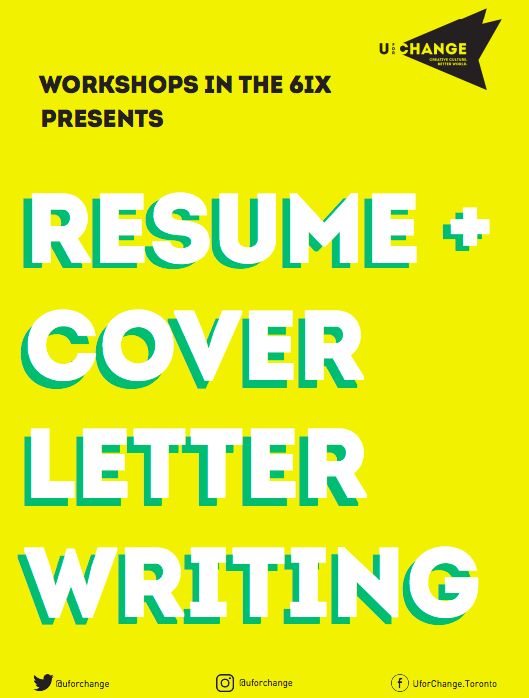 U For Change Resume And Cover Letter Writing For Artists Workshop