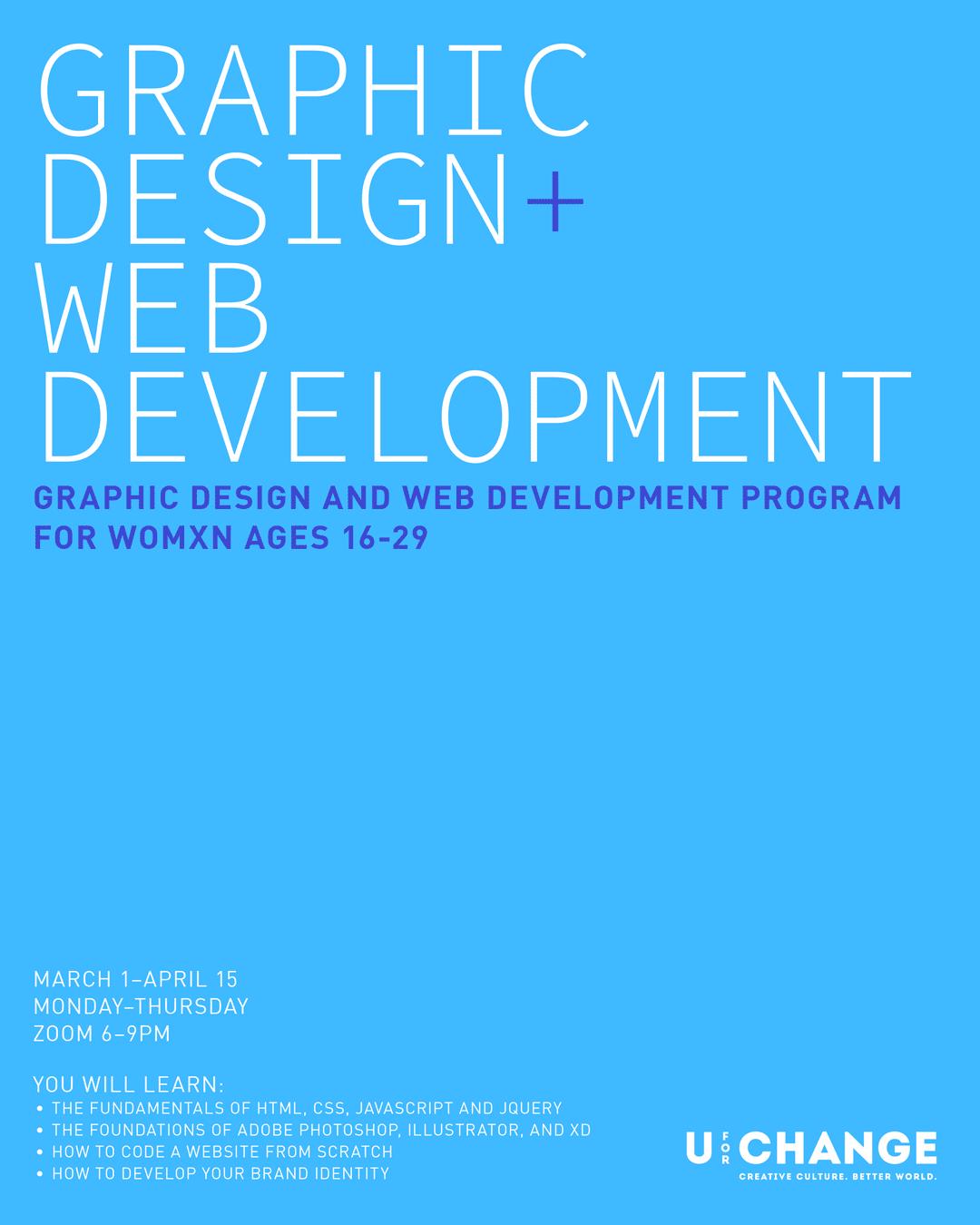 graphic design and web development poster